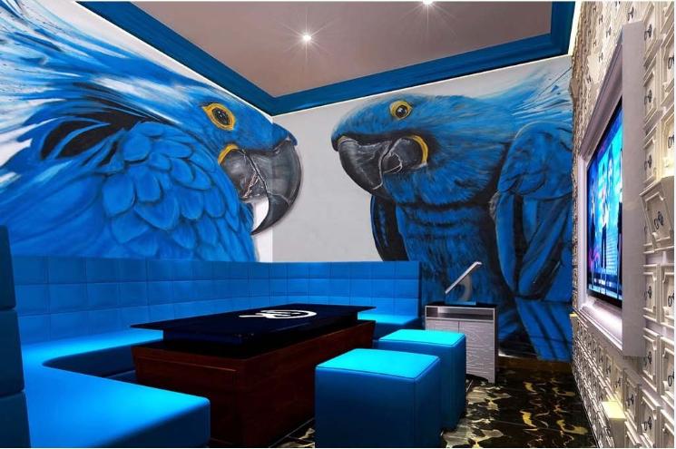 3D Blau Parrots 784 Wall Paper Murals Wall Print Wall Wallpaper Mural AU Kyra