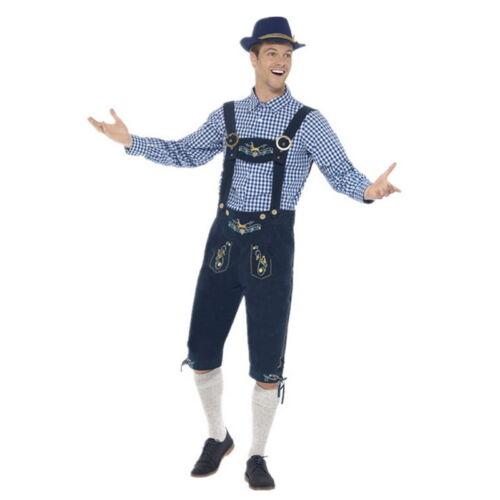 Mens German Oktoberfest Beer Men Bavarian Lederhosen Fancy Costume Halloween