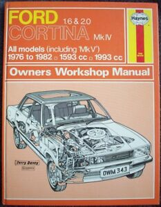 haynes ford cortina mk iv mk v 1 6 2 0 haynes car manual 343 very rh ebay co uk Ford Capri Ford Corsair
