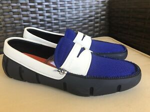 SWIMS Navy Royal Blue Penny Loafer Water Comfort Shoes Men ...