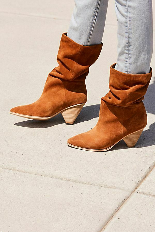FREE PEOPLE x JEFFREY CAMPBELL STELLA SENITA SUEDE SLOUCH BOOT SZ 7.5 NEW
