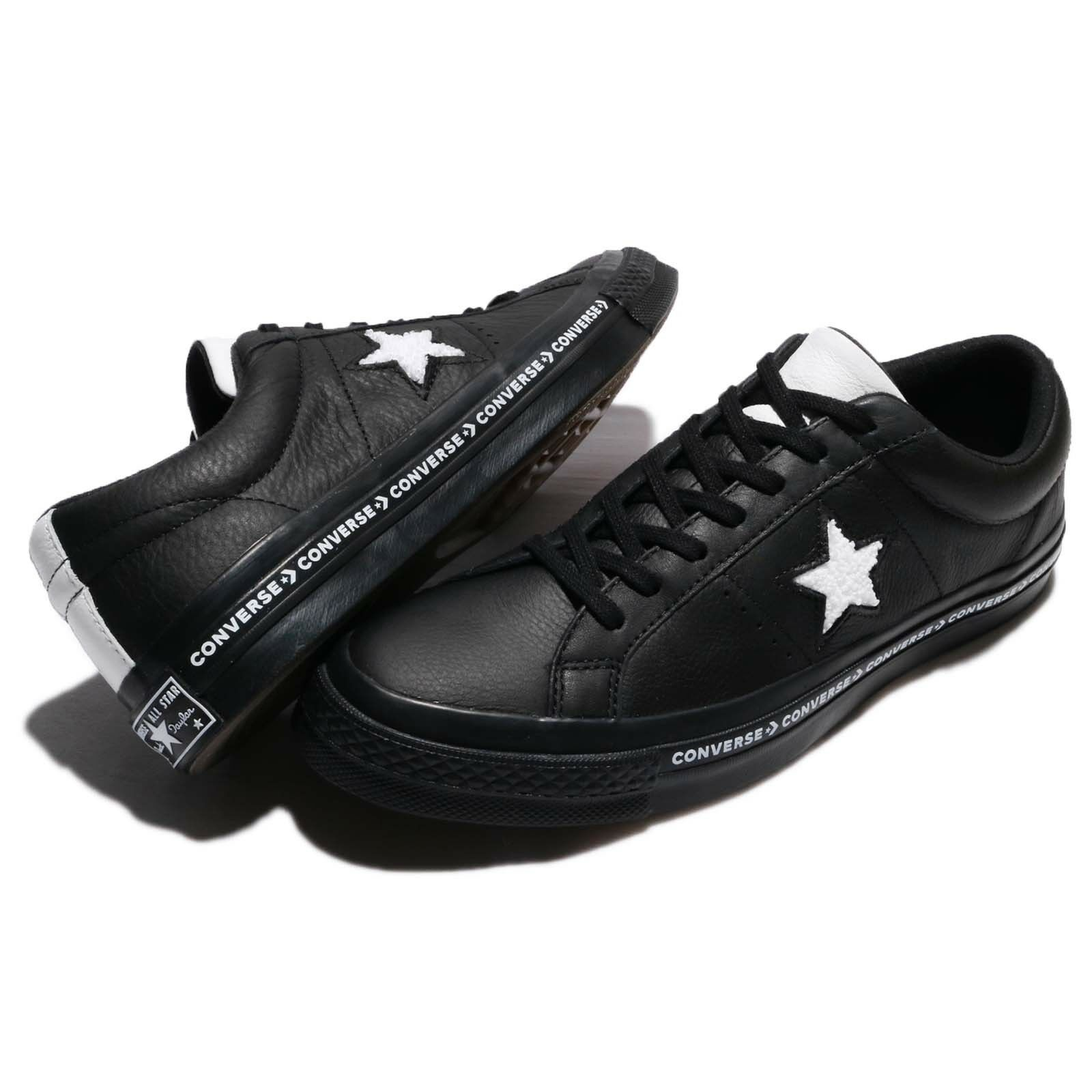 Converse One Star Terry Leather Men shoes Sneakers Trainers Black White 159721C