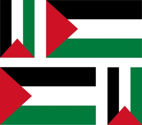 4 x flag decals sticker bike scooter car vinyl helmet motorcycle palestine gazza