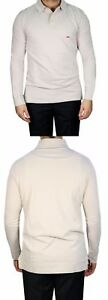 Poloshirt-Herren-Langarm-Gr-XL-Beige
