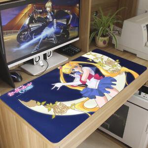 Anime Sailor Moon Crystal Mouse Pad Tsukino Usagi Huge Keyboard Mat Game Playmat