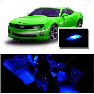 For Chevy Camaro 2010 2015 Blue Led Interior Kit Blue License Light Led Ebay
