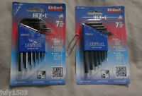 Two (2) Metric Hex-l Sets, 7 Keys Each Eklind Allen Wrench 10507 Free Ship