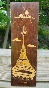 VTG-MCM-Engraved-Hand-Carved-Wood-Wall-Plaque-Je-t-d-Jested-Travel-Art-Rare-SALE