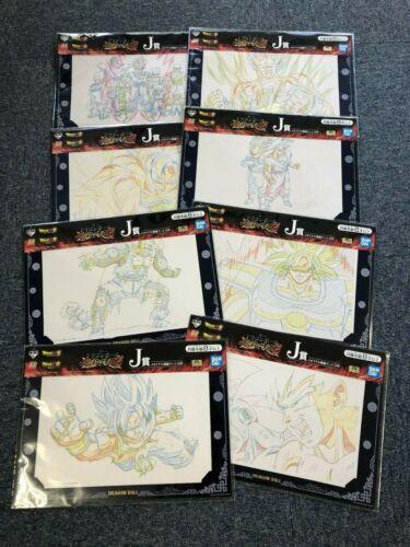 Dragon Ball Ichiban Kuji J Prize BATTLE RETSUDEN Z Memorial Original Art 8 Set