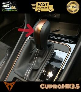 Eaziwrap-Seat-Leon-MK3-amp-3-5-FR-Cupra-Gear-Stick-Vinyl-Overlay-Sticker-COPPER