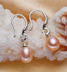 xpu-6-7mm-Charming-Akoya-REAL-freshwater-Pearl-Round-Bead-Ear-Stud-Earring-gift