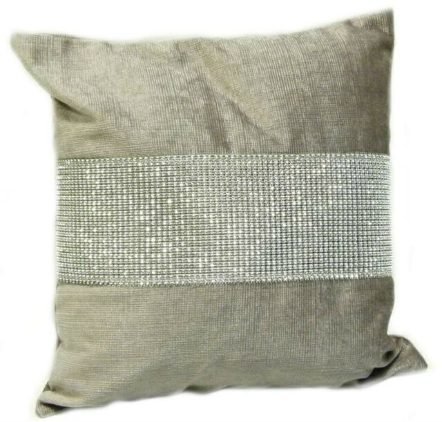 "Diamond Style 17"" x 17"" Cushion Cover Diamante Chenille"