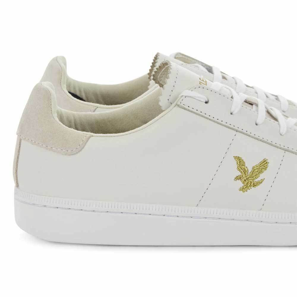 fc83b41d18d680 ... Lyle   Scott Vintage Cooper Cooper Cooper Nappa Leather Trainers White  Gold Ship Worldwide c0914d ...