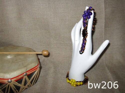 Amazonian Handmade Açaí /& Morototó Seeds Bracelet with Wood Chips