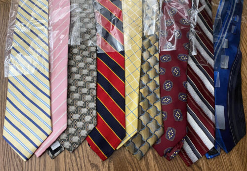 Lot Of 50 Mens Silk Ties Excellent Wearable Crafts