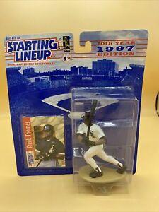 "Frank Thomas 1997 10th Year Big Hurt 4"" Starting Lineup Figure w/ Card White Sox"