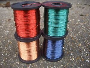 TATTOO MACHINE COIL WIRE 0.50mm ENAMELLED COPPER WINDING WIRE 125 Gram Spool