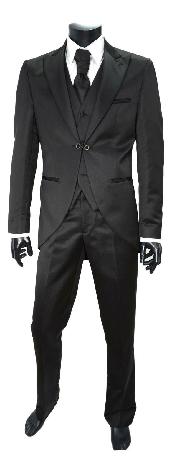 MAESTRAMI Suit Tight Ceremony Man Set 4 Pieces Black Blades' Size 48 Slim