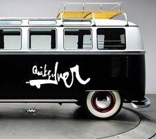 2x Large Quicksilver surf surfing vinyl car van graphic decal stickers graphics