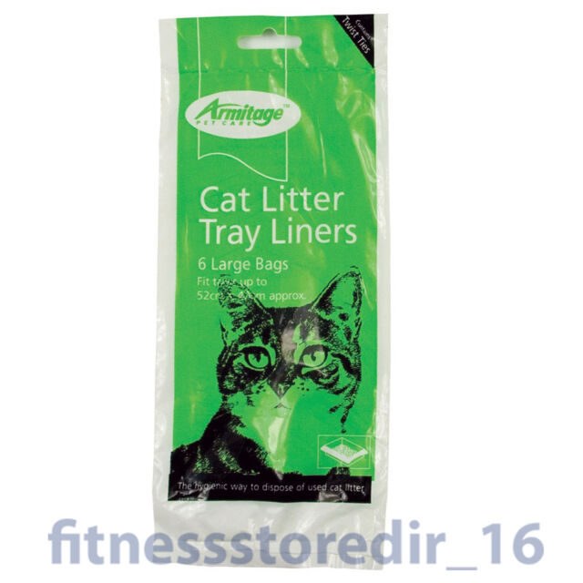 Armitage Cat Litter Large Tray 52x40cm Liners 6-Pack - Hygienic Pet Disposal Bag