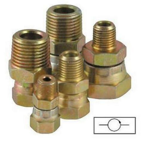 "Pressure Gauge Swivel Adaptors 1//4/"" 1//4/"" Ports"