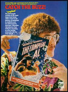 WEIRD-AL-YANKOVIC-The-Compleat-Al-Original-1985-print-AD-movie-promo-advert