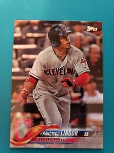 Topps 2018 Series 1 Baseball Card 10 Francisco Lindor Cleveland