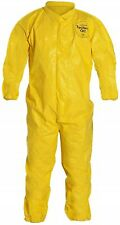 Dupont Tychem Tyvek Qc Yellow Coveralls Chemical Hazmat Suit