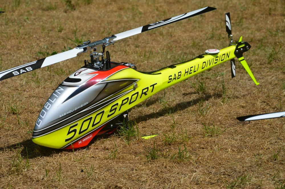 SAB goblin 500 Sport RC-helicóptero RTF + axon autopilot + grispner MZ 24 Pro