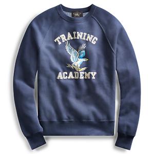 Ralph en Rrl Sweatshirt Coton Mᄄᆭlange Homme Marine Ajourᄄᆭe de Lauren Bleu lKcF3u15TJ