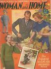 1930s Woman and Home Magazine December 1938 Knitting Patterns Fashion Recipes