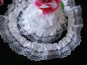 2 1//2 inch wide ivory with roses trim price per yard