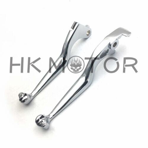 For Honda Shadow 600 750 1100 VTX1300 VT1300 VTX VT 1300 CHROME SKULL LEVERS