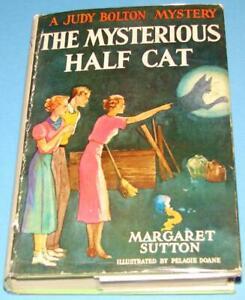 Judy-Bolton-9-Mysterious-Half-Cat-Thick-1930s-DJ