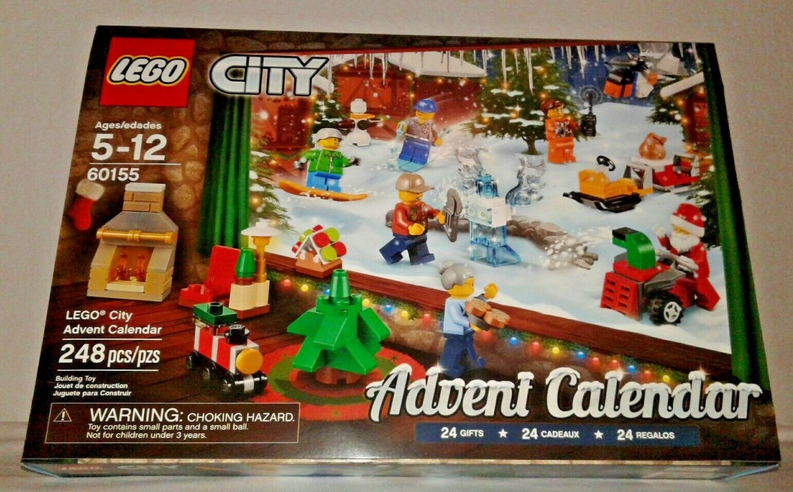 Lego City Advent Calendar 60155  Building Kit (248 Pieces) SEALED Christmas