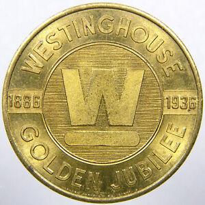 MANSFIELD, OHIO, Westinghouse 1936 Golden Jubilee Refrigerator Advertising Token
