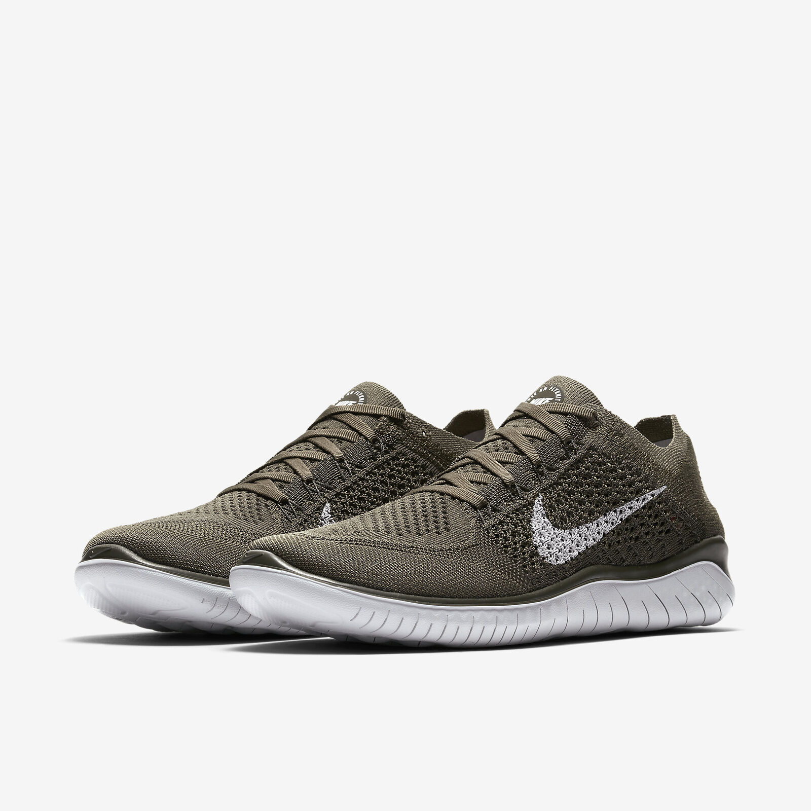 Nike Free RN Running Flyknit 2018 Cargo Khaki/Medium Olive/Sequoia Mens Running RN All NEW 7e8398