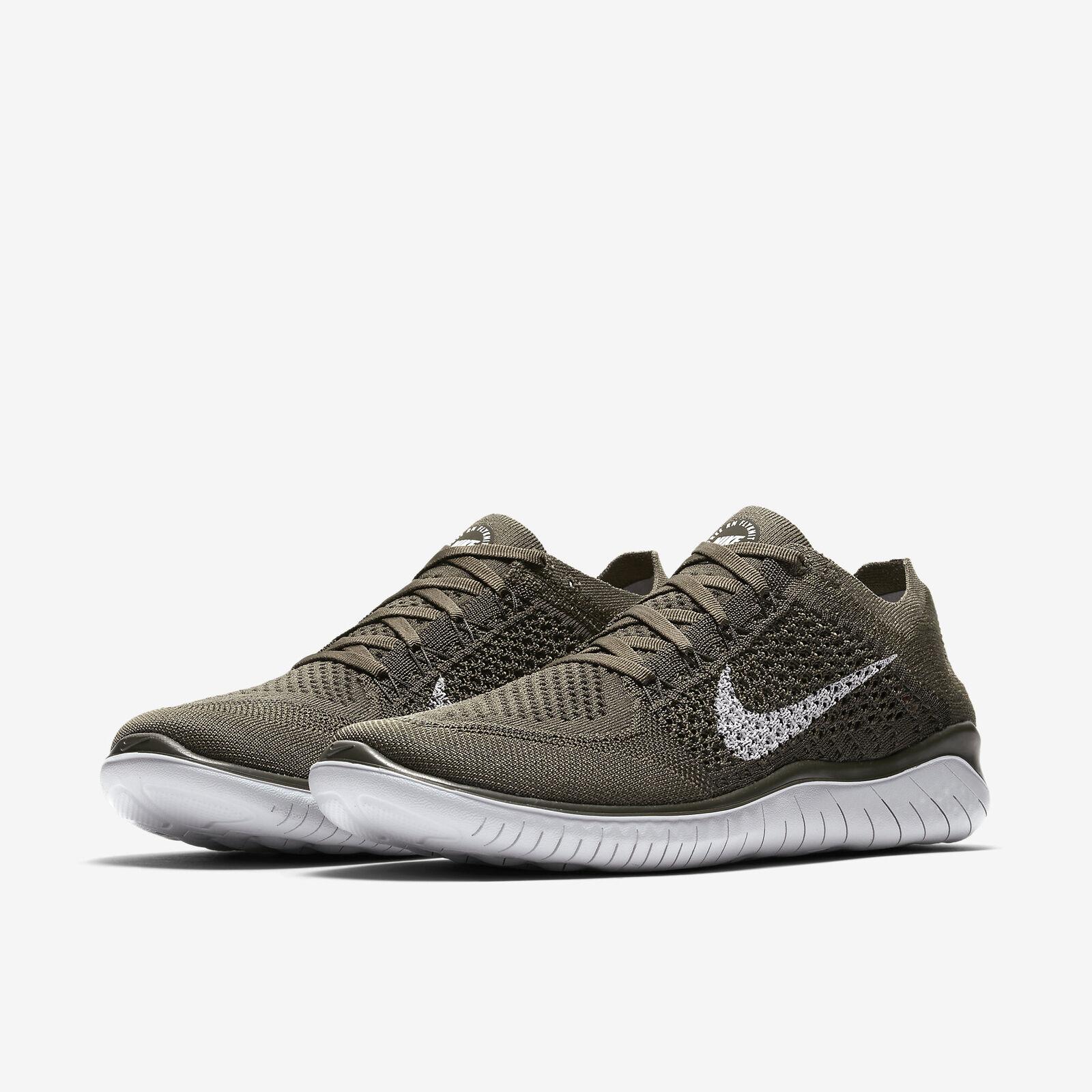 Nike Gratuit Rn Flyknit 2018 Cargo Kaki / M Séquoia Olive / Séquoia M Course Hommes All 739912