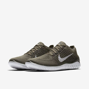mens nike free rn flyknit running shoes cargo khaki