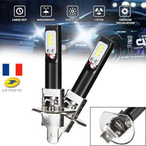 2Pcs-160W-H1-LED-Phare-Ampoule-Auto-Lumiere-de-brume-3200LM-6500K-Lampe-blanche