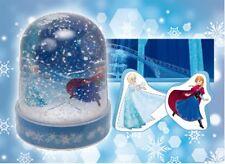 Frozen Disney Arendale Mini PVC Crystal Snow Globe Dome Anna Elsa Olaf Castle