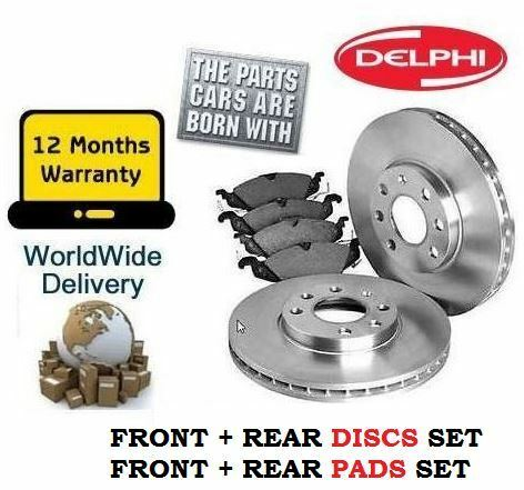 PADS KIT FOR Volvo C70 2.0i TURBO 1999-2006 FRONT AND REAR BRAKE DISCS SET