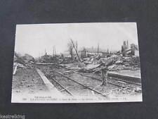 Gare de Ham WW1 La Grande Guerre - Railway Station Ruins France Postcard