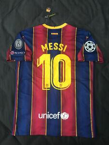 FC Barcelona Home Jersey 2020/2021 Lionel Messi #10 UEFA ...