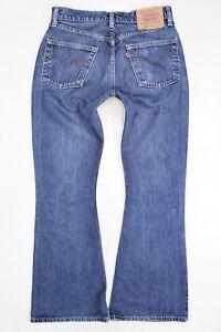 Levi's 450 Bootcut Blue Jeans W29 L32 Finement Traité