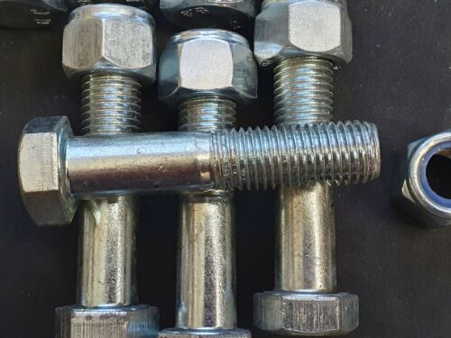 23 x M16 PART THREADED BOLT GRADE 8.8 ZINC SCREW HEXAGON HEX HEAD Free P//P