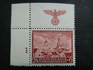 Germany-Nazi-1942-Stamp-MNH-Modern-Lublin-Swastika-Eagle-Generalgouvernement-WWI