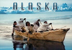 Image Is Loading Native American Whaling Boat Inupiaq Inuit Umiak Barrow