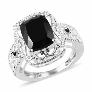 925-Sterling-Silver-Tourmaline-Black-Spinel-Statement-Ring-Jewelry-Size-7-Ct-3-2
