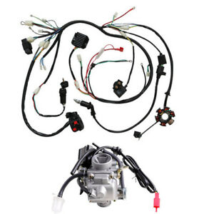 image is loading gy6-125cc-150cc-carburetor-wiring-harness-for-moped-